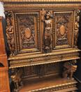FRENCH RENAISSANCE WALNUT SIDEBOARD/BUFFET MATCHING PAIR - VINTAGE